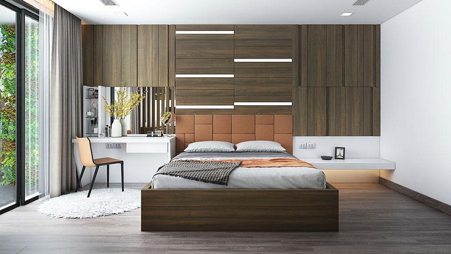 Idee per boiserie per camera da letto moderna n.19