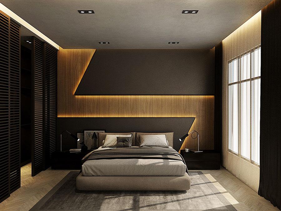Idee per boiserie per camera da letto moderna n.21