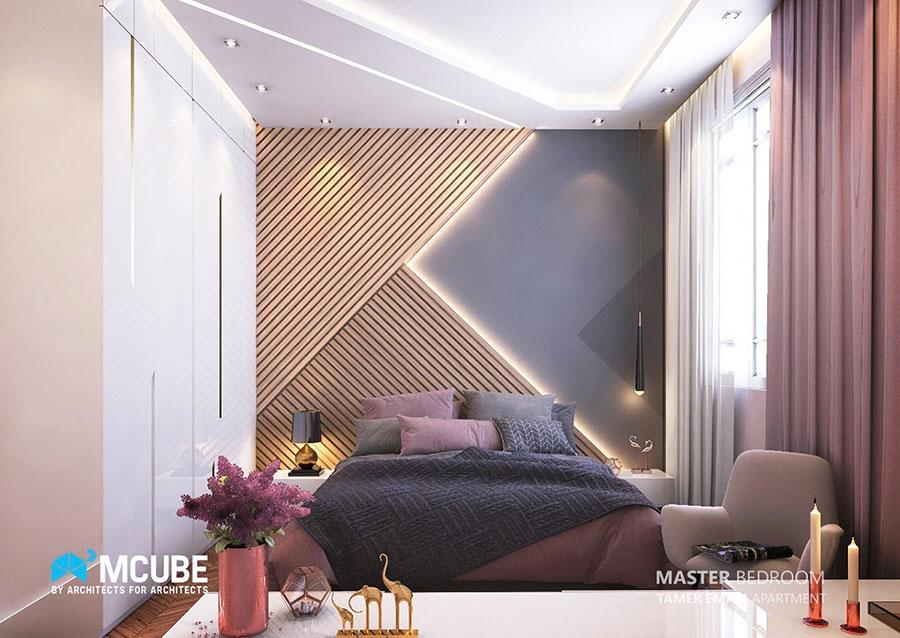 Idee per boiserie per camera da letto moderna n.22