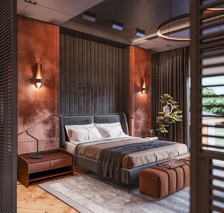 Idee per boiserie per camera da letto moderna n.23