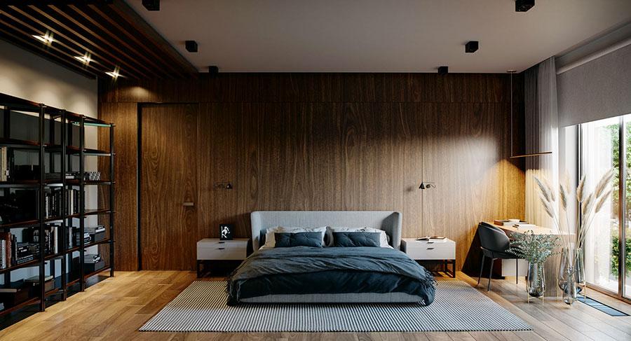Idee per boiserie per camera da letto moderna n.24