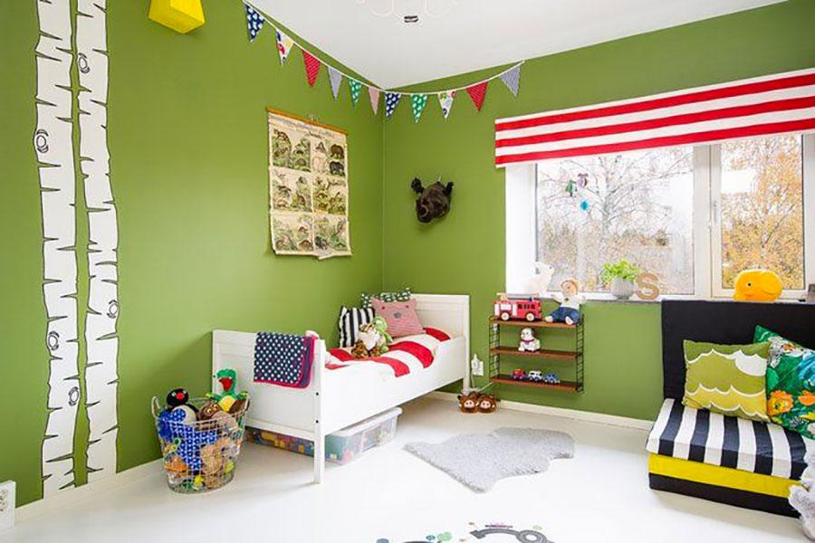 Idee per arredare e decorare una cameretta verde mela n.02