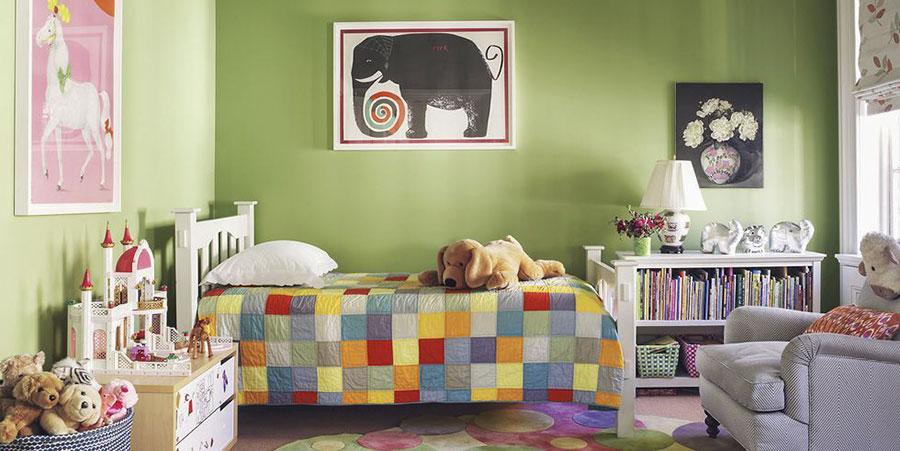 Idee per arredare e decorare una cameretta verde mela n.03