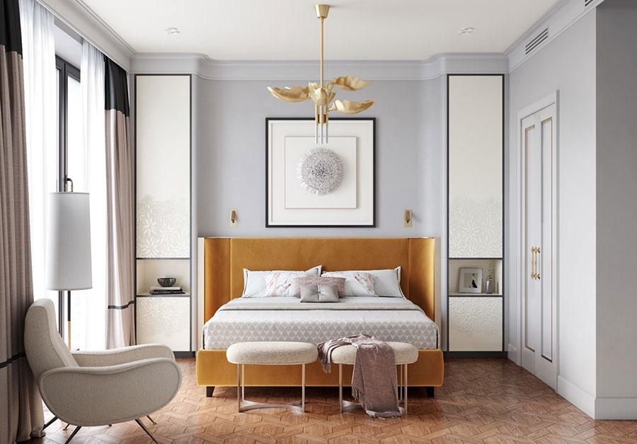 Idee per il lampadario in una camera da letto classica n.01