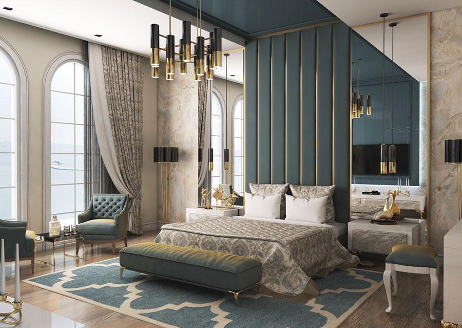 Idee per il lampadario in una camera da letto classica n.03