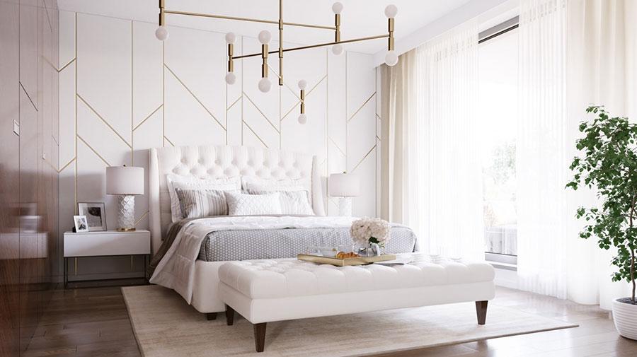 Idee per il lampadario in una camera da letto classica n.04