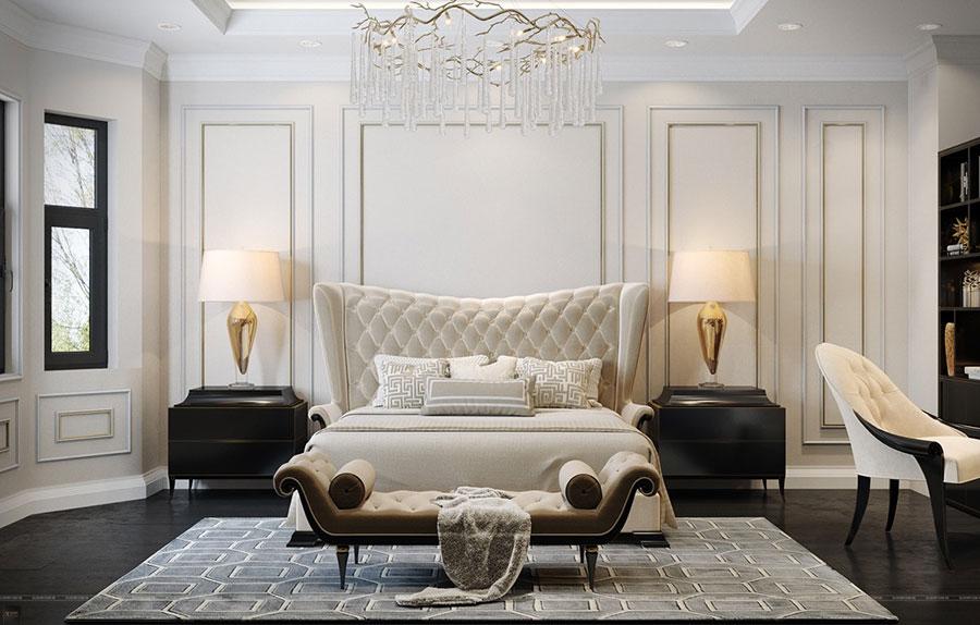 Idee per il lampadario in una camera da letto classica n.05