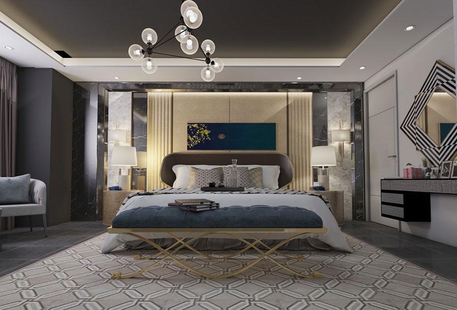 Idee per il lampadario in una camera da letto classica n.06