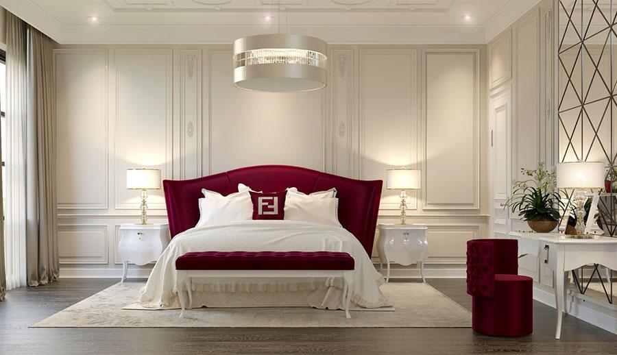 Idee per il lampadario in una camera da letto classica n.09