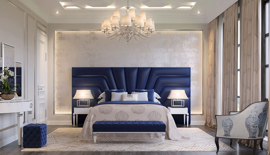 Idee per il lampadario in una camera da letto classica n.10
