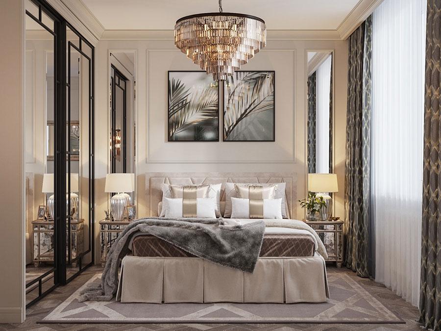 Idee per il lampadario in una camera da letto classica n.12