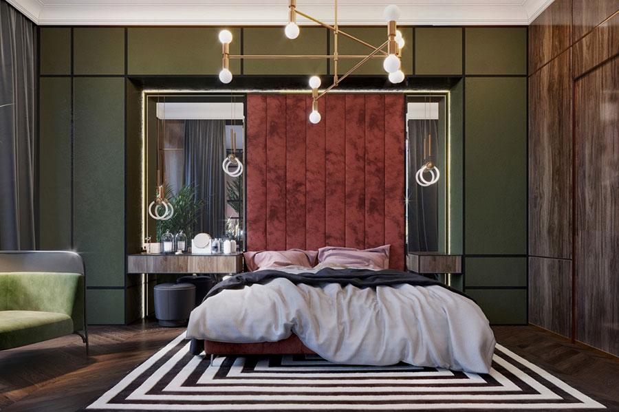 Idee per il lampadario in una camera da letto classica n.13