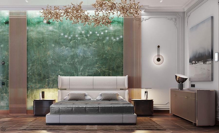 Idee per il lampadario in una camera da letto classica n.14