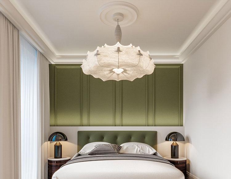 Idee per il lampadario in una camera da letto classica n.15