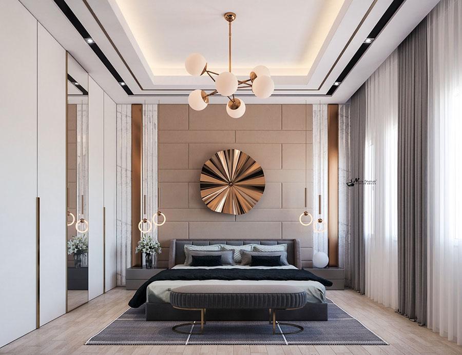 Idee per il lampadario in una camera da letto moderna n.05