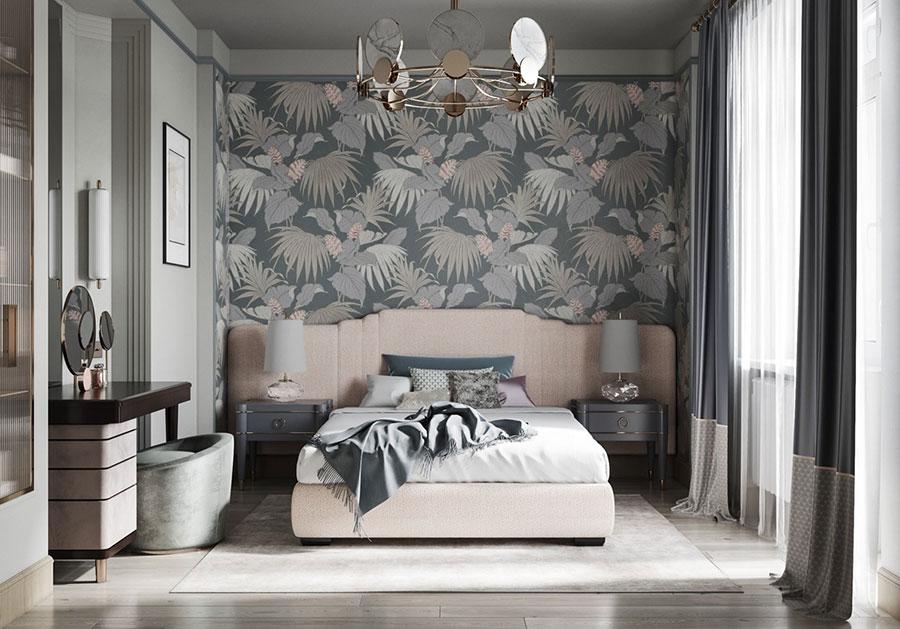Idee per il lampadario in una camera da letto moderna n.09
