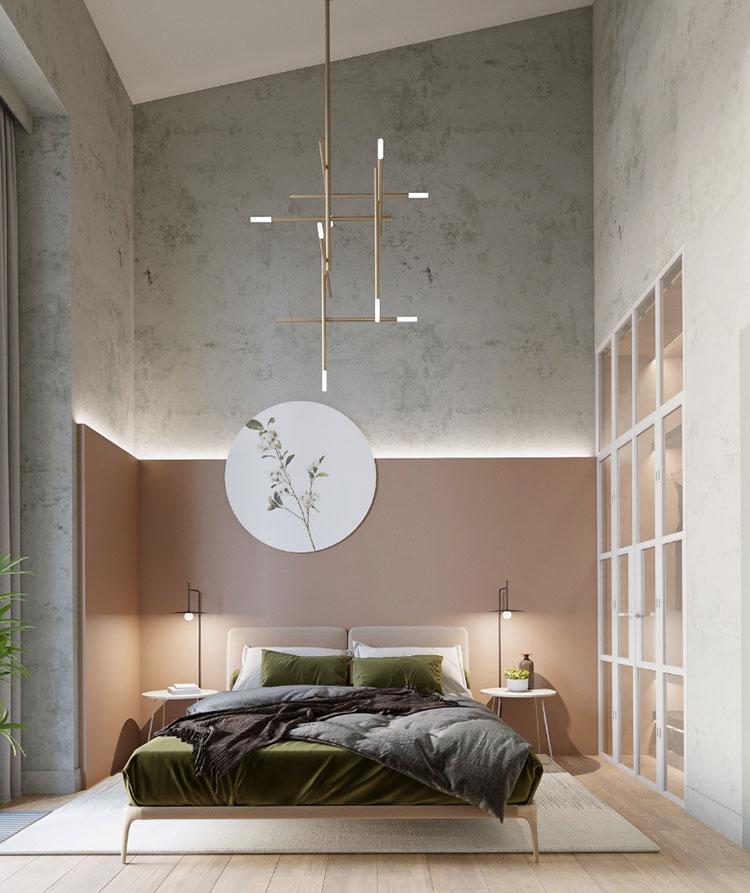 Idee per il lampadario in una camera da letto moderna n.10