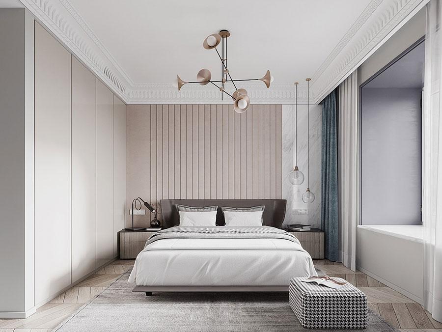 Idee per il lampadario in una camera da letto moderna n.11