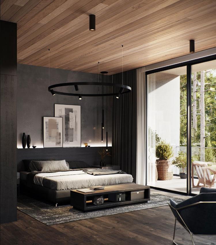 Idee per il lampadario in una camera da letto moderna n.13