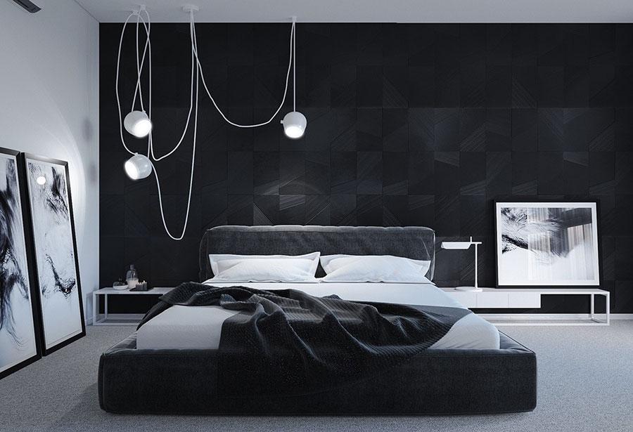 Idee per il lampadario in una camera da letto moderna n.14