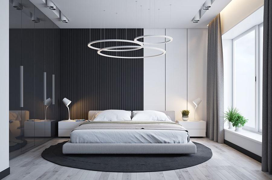 Idee per il lampadario in una camera da letto moderna n.15