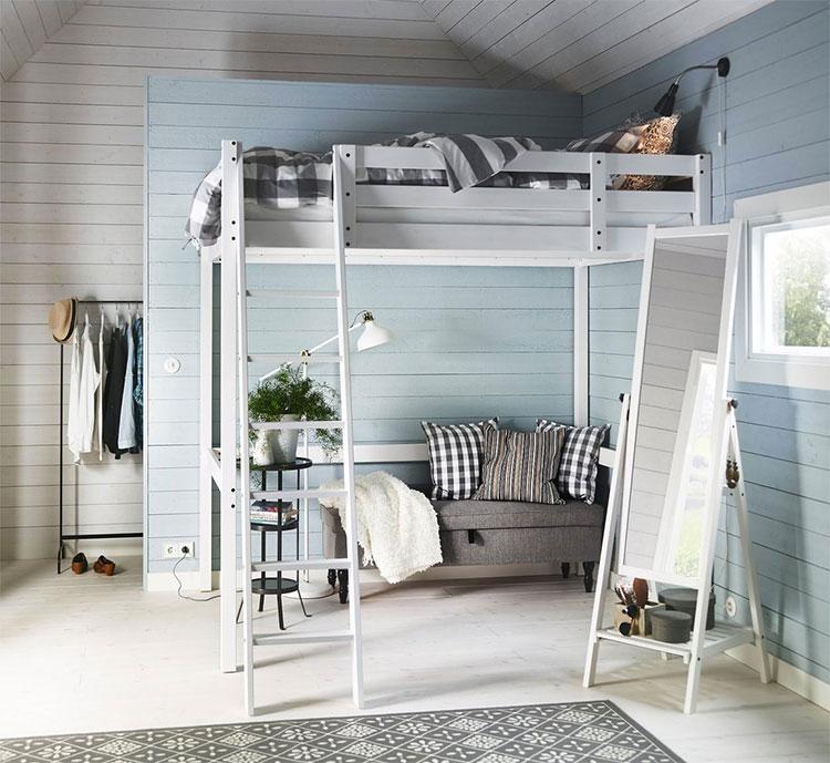 Modello di letto a soppalco matrimoniale Ikea n.04