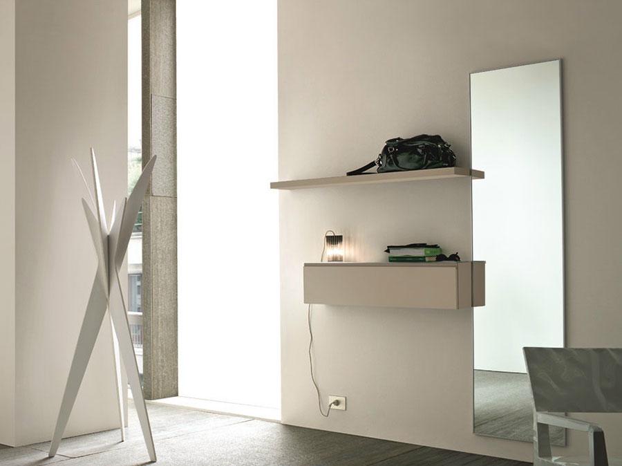 Modello di mobile per ingresso sospeso di design n.07