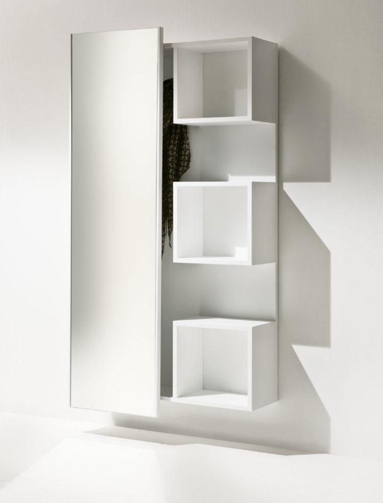 Modello di mobile per ingresso sospeso di design n.13