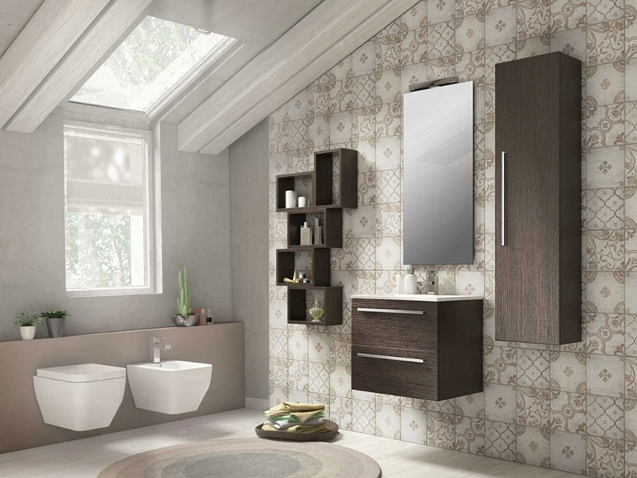 Idee per un bagno tortora e grigio n.02