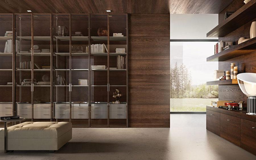 Modello di boiserie moderne in legno n.01