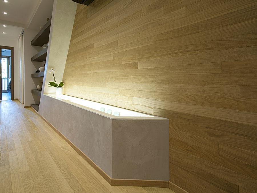 Modello di boiserie moderne in legno n.06
