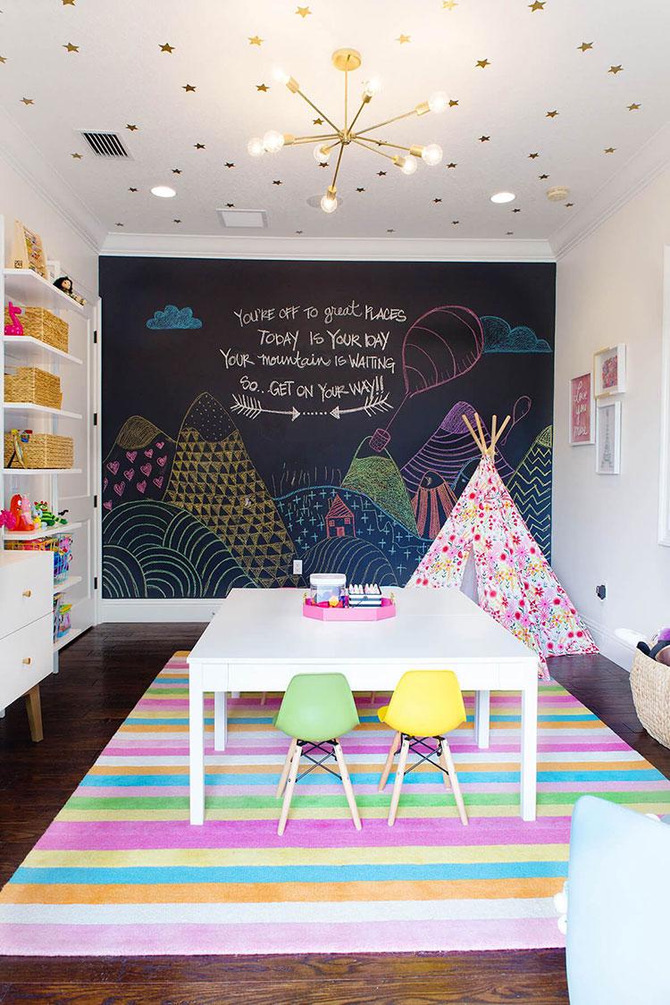 Vernice Lavagna Magnetica Colorata pittura lavagna per pareti: idee e soluzioni per tutte le