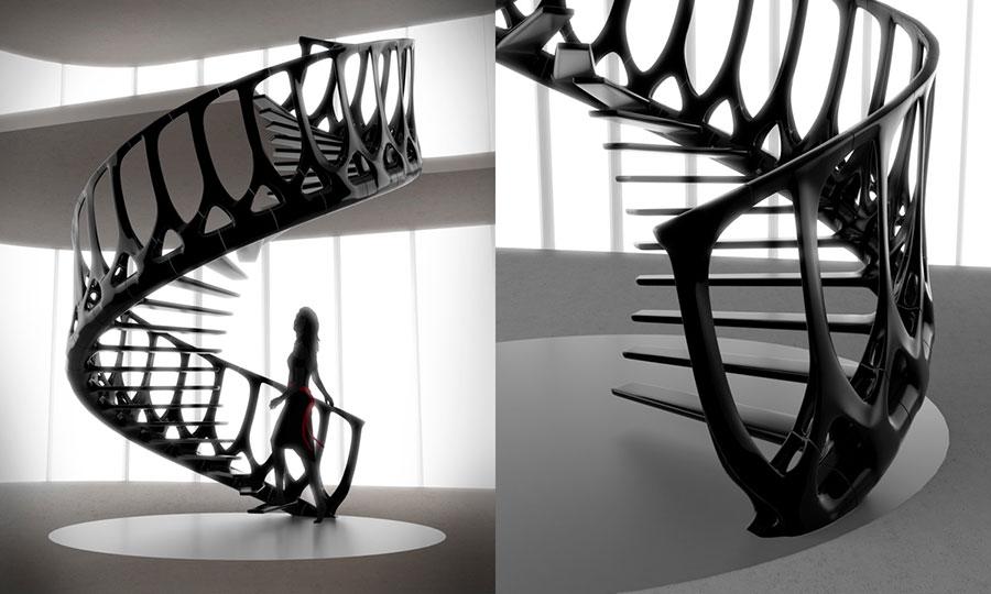 Progetto per scala interna di design n.06