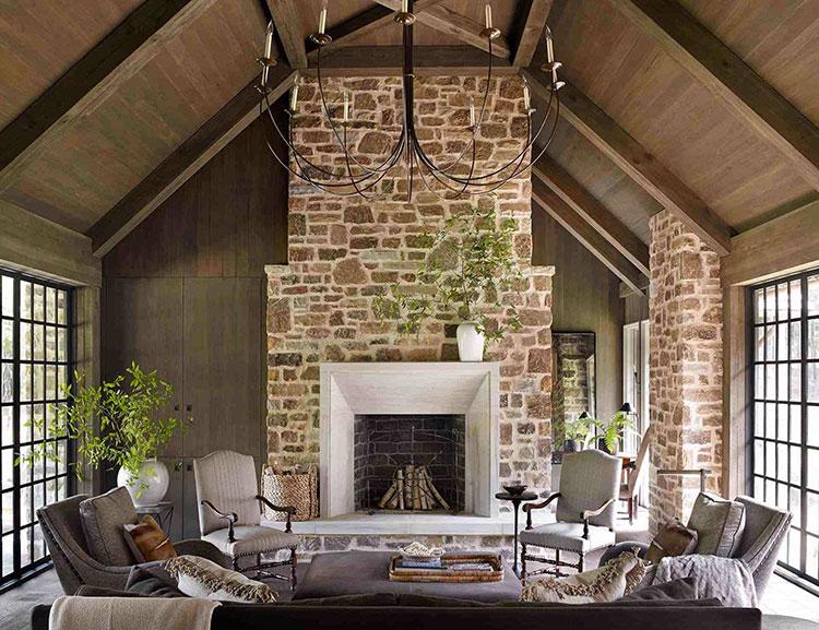 Idee di colori per pareti per un soggiorno country chic n.01