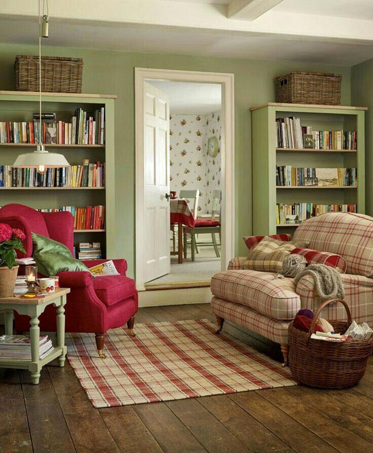 Idee di colori per pareti per un soggiorno country chic n.09