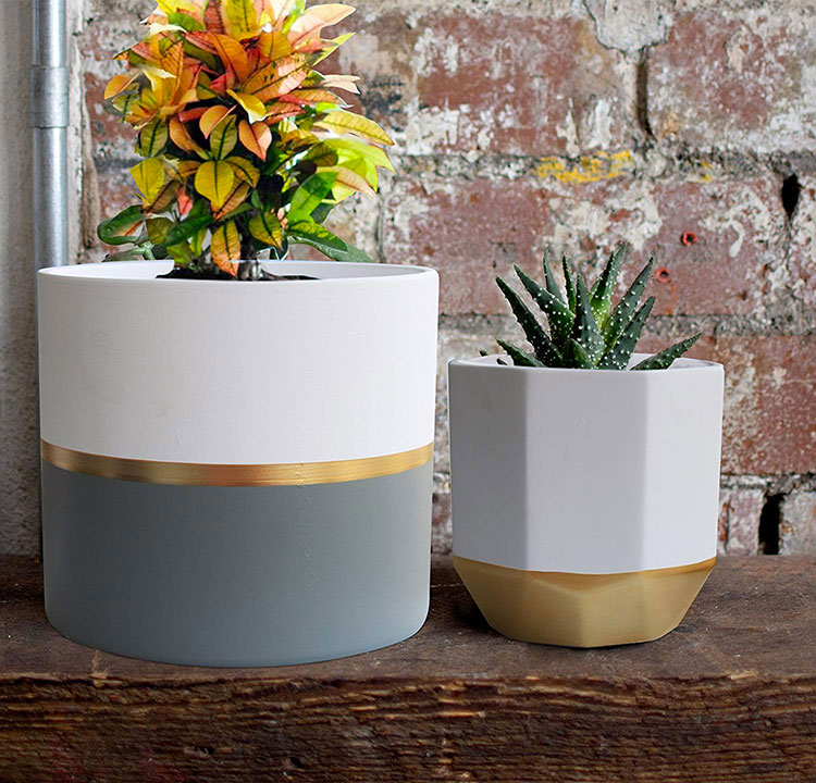 Modello di vaso moderno per piante da interno n.08