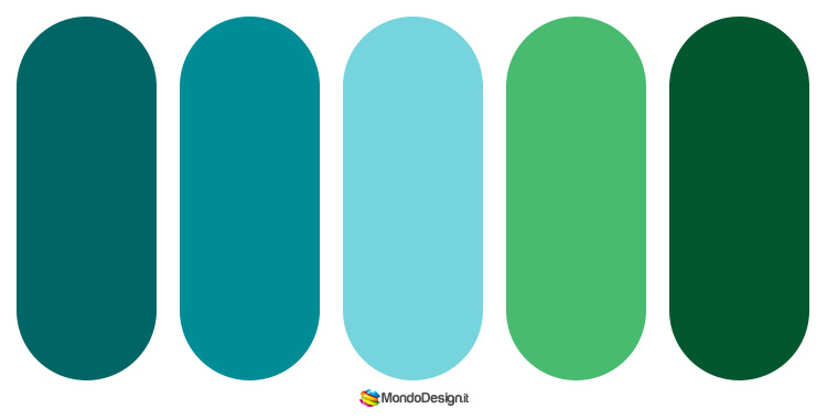 Idee per palette color ottanio n.1