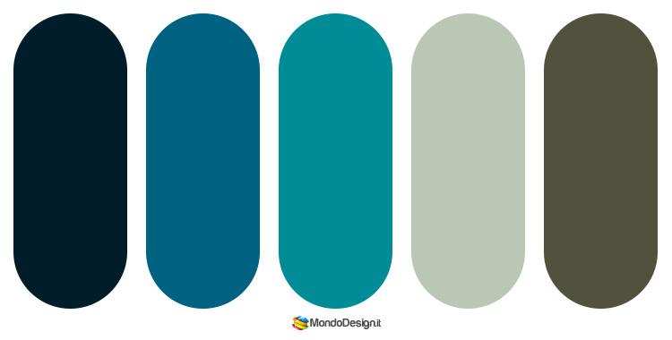 Idee per palette color ottanio n.2