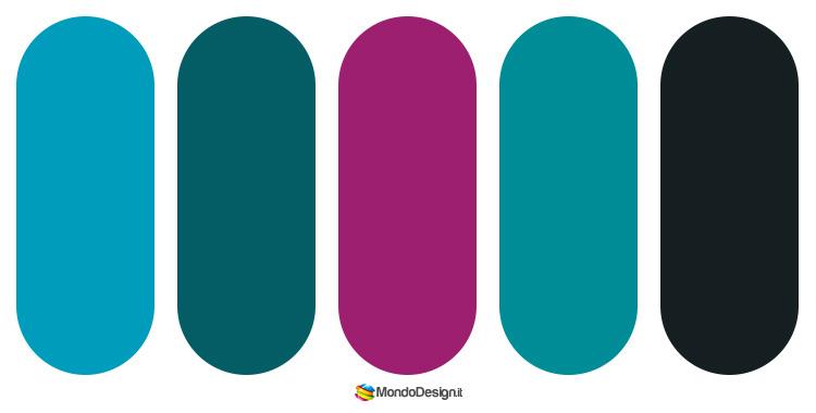Idee per palette color ottanio n.3