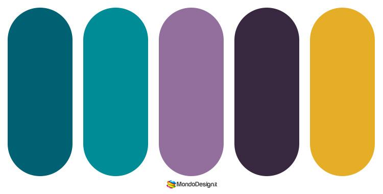 Idee per palette color ottanio n.4