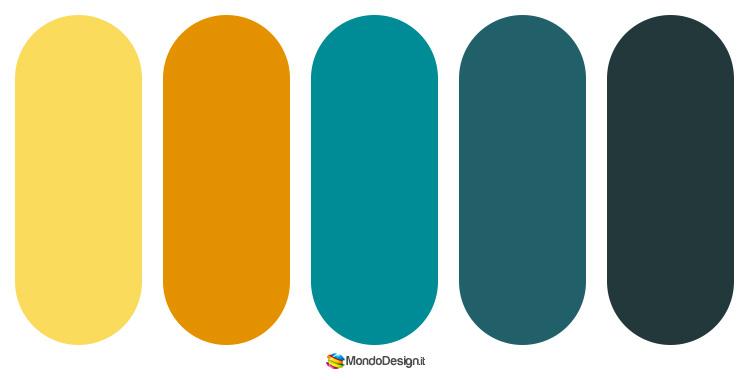 Idee per palette color ottanio n.5