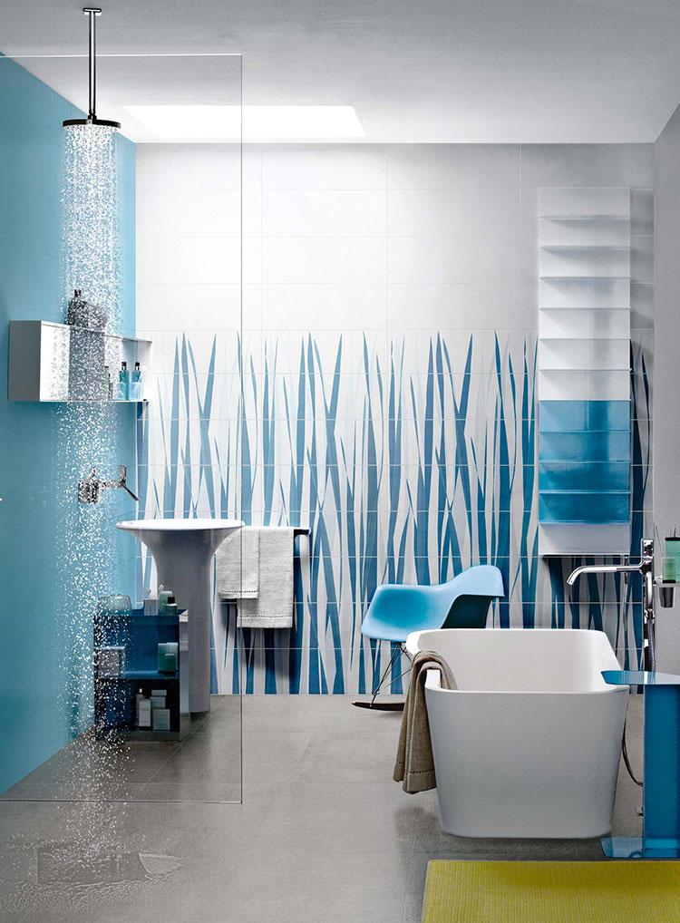 Idee per bagno di colore azzurro n.03