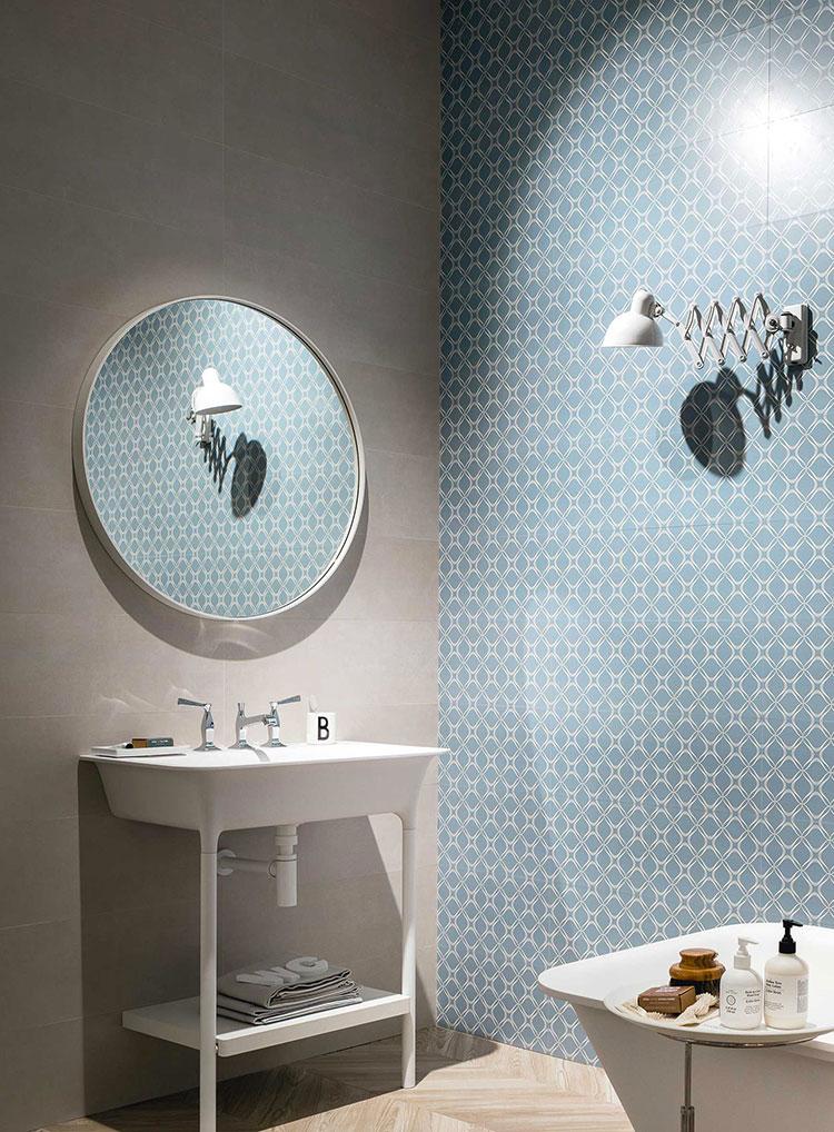 Idee per bagno di colore azzurro n.04