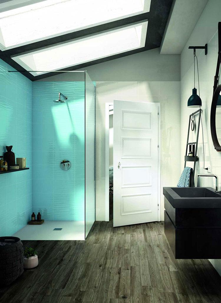 Idee per bagno di colore azzurro n.12