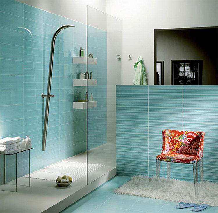 Idee per bagno di colore azzurro n.15