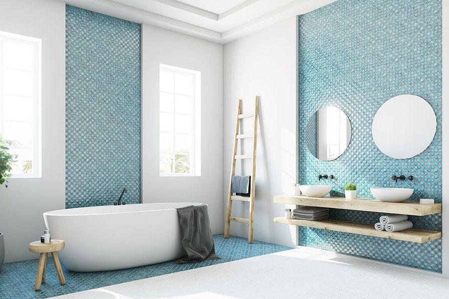Idee per bagno di colore azzurro n.16