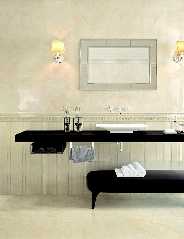 Piastrelle per bagno beige n.06