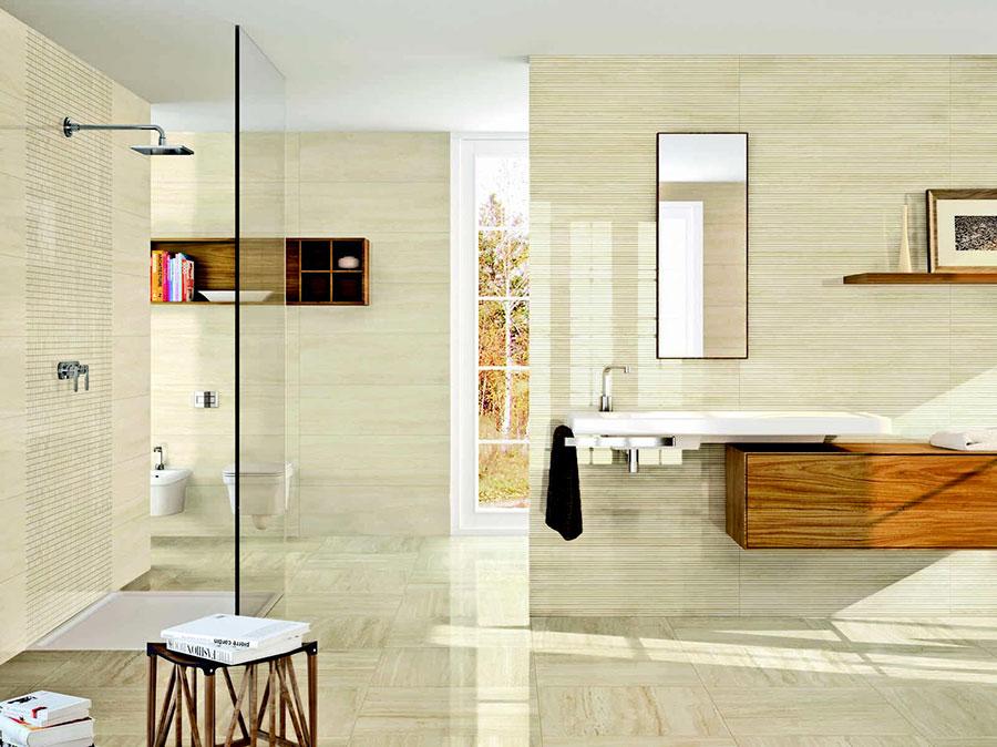 Piastrelle per bagno beige n.11