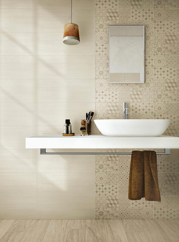Piastrelle per bagno beige n.12