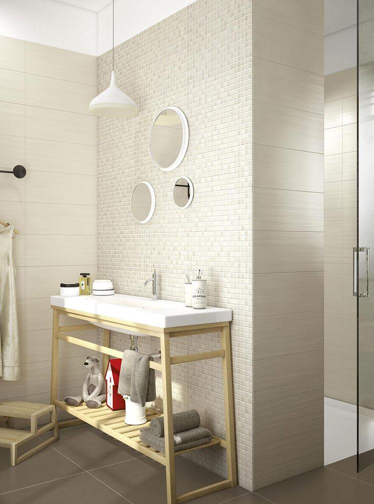 Piastrelle per bagno beige n.13
